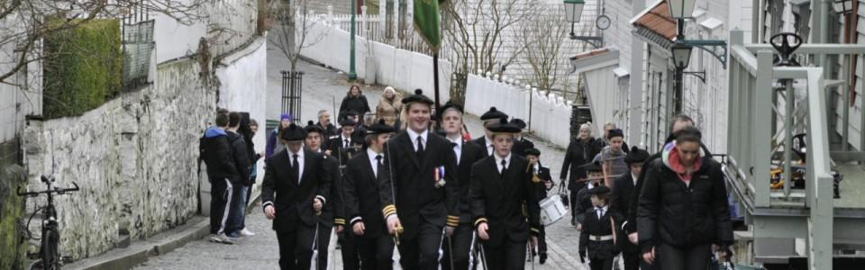Skansens Bataljon 1. dag i uniform, 26 februar 2011.