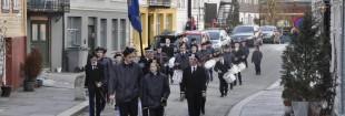 Sydnæs Bataljon på vei fra oppstillingsplassen