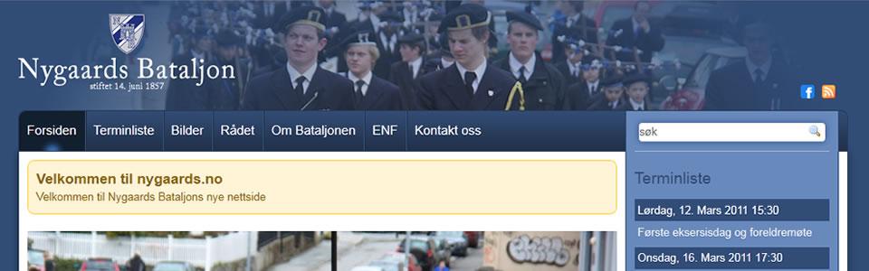 Slik ser Nygaards' nye internettside ut.
