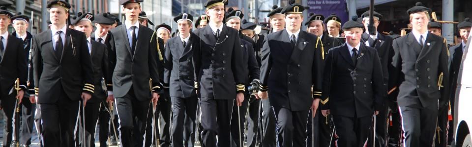 (f.v) Nordnæs Bataillon, Dræggens Buekorps og Nygaards Bataljon.